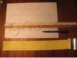 Размечаем лист бумаги