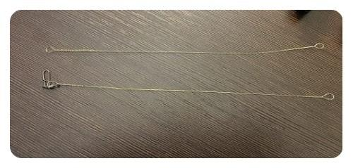 Поводок из стали (скрутка или поводок из струны)