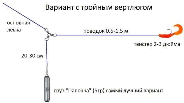 отводной поводок второй вариант