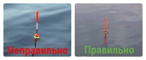 правильная огрузка поплавка