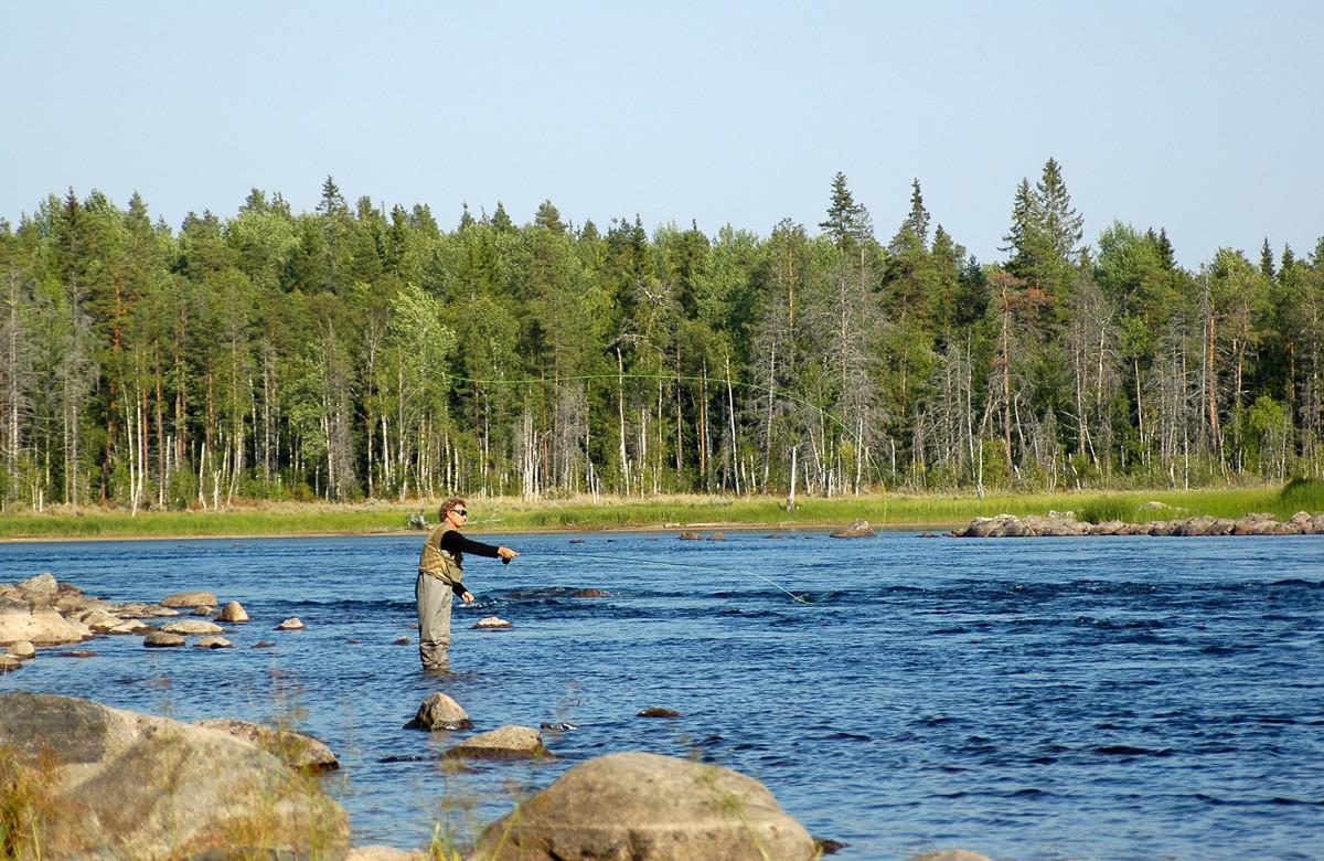 Рыбалка на озере Куйто