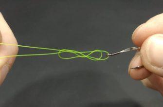 как завязать петлю на леске