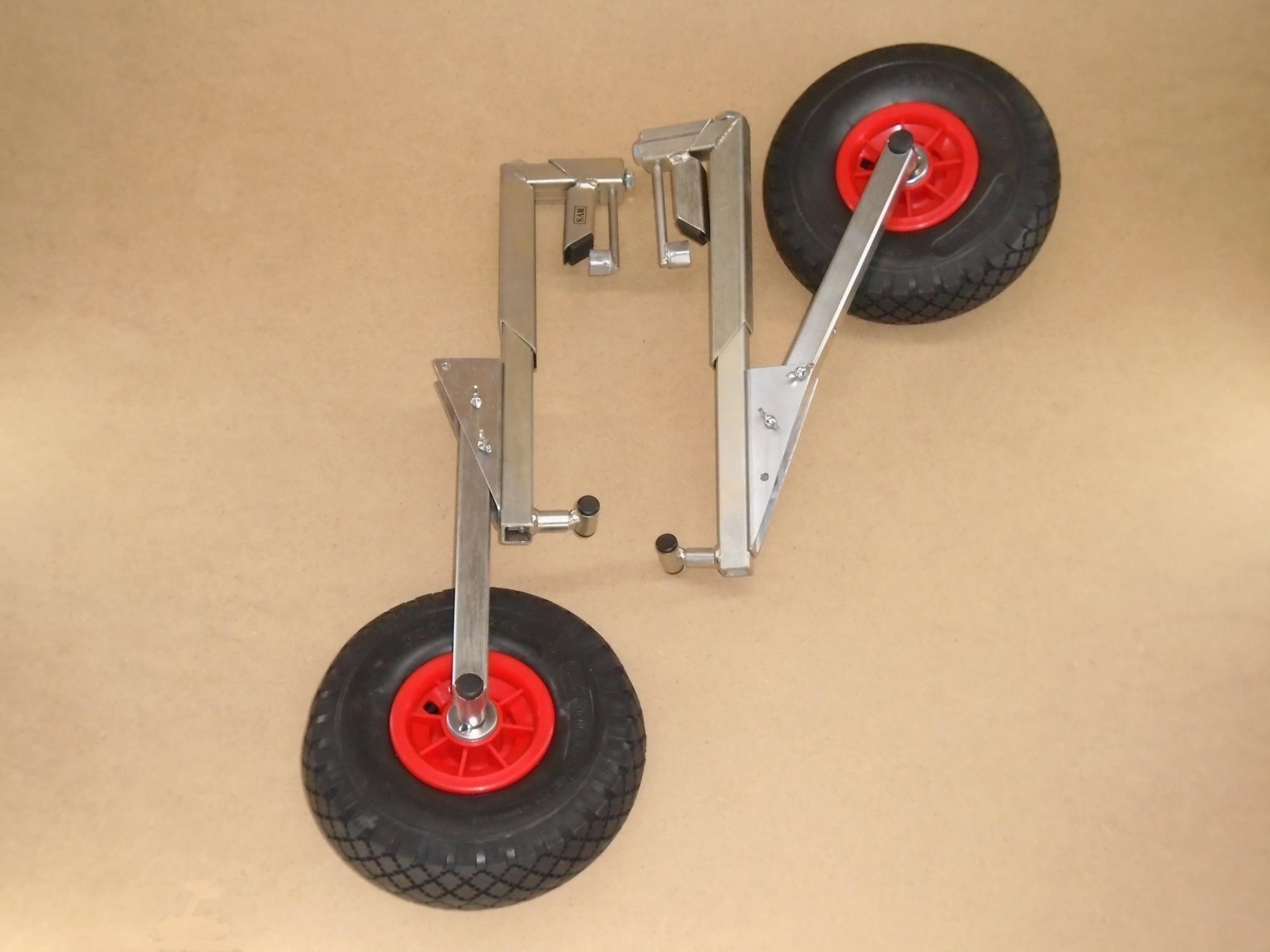 Транцевые колеса (на струбцинах)