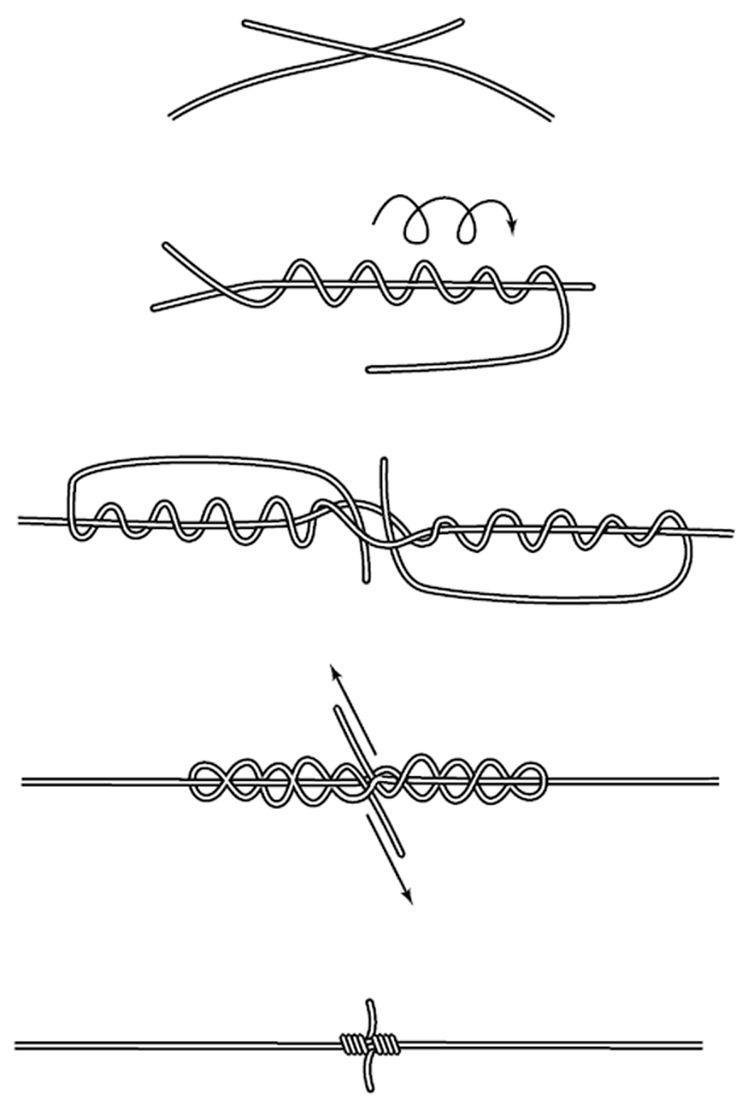 Схема узла Blood knot