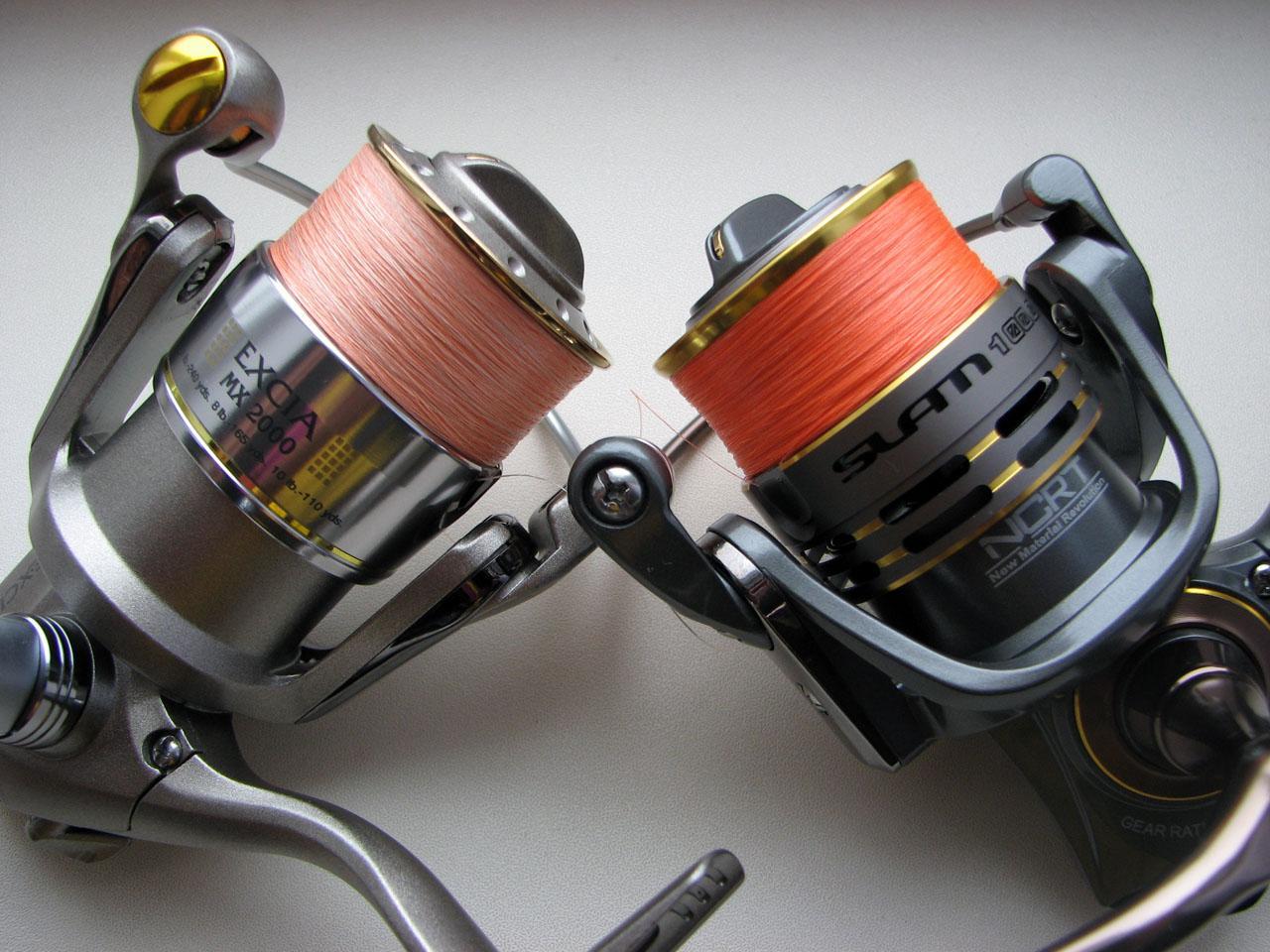 В микроджиге используются легкие катушки и тонкие шнуры