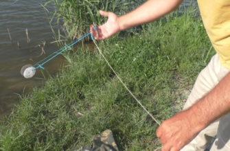 ловля рыбы на резинку с берега